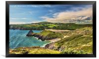View Over Three Cliffs Bay, Framed Print