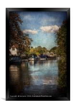 Above The Mill At Goring, Framed Print
