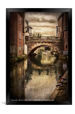 The Water Bridge In Newbury, Framed Print