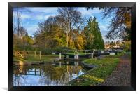 The Town Lock at Hungerford, Framed Print