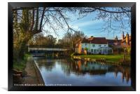 Kennet and Avon At Sulhamstead, Framed Print