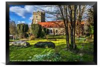 The Churchyard At Cookham, Framed Print