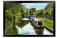 The Oxford Canal At Thrupp, Framed Print