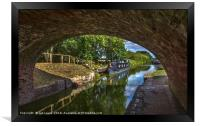 Under The Bridge At Pewsey Wharf, Framed Print