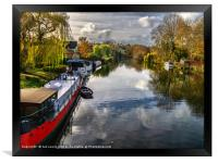 View Upriver From Whitchurch Bridge, Framed Print