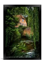 House By The River, Framed Print