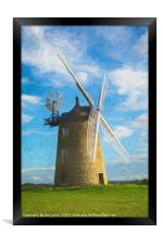 Great Haseley Windmill Impressionist Style, Framed Print