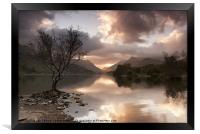 Sunrise over Llyn Padarn, Framed Print