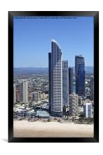 High Rise at Surfers Paradise, Framed Print