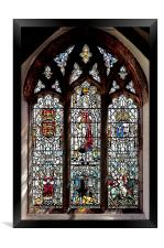 Stained Glass in Saint David's Cathedral, Pembrok, Framed Print