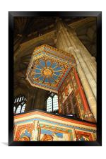 The Pulpit, Canterbury Cathedral, Framed Print