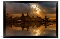 Liverpool morning, Framed Print