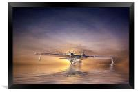 PBY Catalina take off, Framed Print
