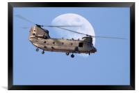 CH47 Chinook Daymoon , Framed Print
