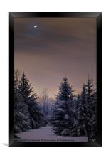 Moonscape, Framed Print