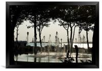 Fountain Contra Jour, Battery Park NYC, Framed Print