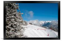 Courchevel 1850 3 Valleys French Alps France, Framed Print