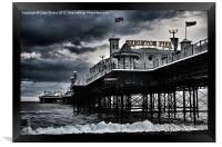 Brighton Pier amidst the storm, Framed Print