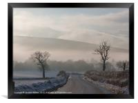 The Road to Finzean 2, Framed Print