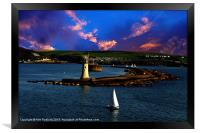 Leaving Plymouth Sound, Framed Print