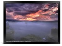 Light mist over Windermere, Framed Print