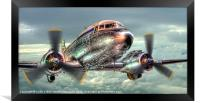 The Douglas C47 Dakota, Framed Print