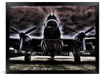 Ghostly Just Jane Bomb Doors Open, Framed Print
