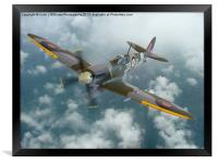 Spitfire In The Clouds 1, Framed Print