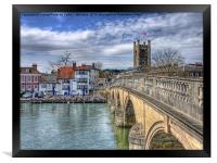 Henley On Thames And The Angel, Framed Print