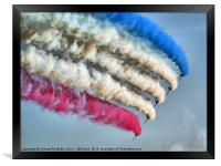 Cookin On Gas !! - The Red Arrows - Duxford 26.05., Framed Print