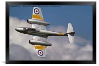 The Gloster Meteor, Framed Print