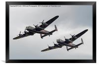 The Two Lancasters - Dunsfold Wings And Wheels, Framed Print