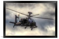 Mean Looking  Apache  - Dunsfold wings and Wheels , Framed Print