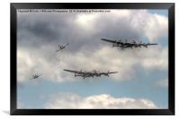The Two Lancasters Tour - Dunsfold 2014, Framed Print