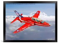 Red Arrow In The Clouds, Framed Print