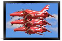 The Red Arrows Take of at RIAT 2015, Framed Print