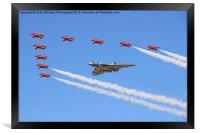 Final Vulcan flight with the red arrows 6, Framed Print