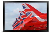 The Red Arrows RIAT 2015 3, Framed Print