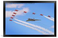 Final Vulcan flight with the red arrows 9, Framed Print