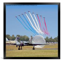 The Red Arrows Salute The Vulcan, Framed Print