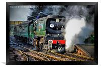 West Country Class Wadebridge Waiting to Depart, Framed Print