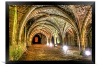 Fountains Abbey Yorkshire Floodlit - 3, Framed Print