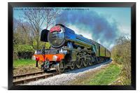 The flying Scotsman on the  KWVR - 1, Framed Print