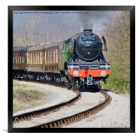 The flying Scotsman on the  KWVR - 3, Framed Print