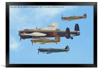 The Battle Of Britain Memorial Flight - RIAT 3, Framed Print