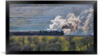 Steam Over The Ribblhead Viaduct - 2, Framed Print