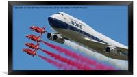 BOAC  747 with The Red Arrows Flypast - 4, Framed Print