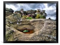Brimham Rocks, Framed Print
