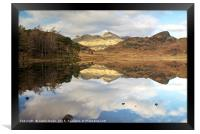 Blea Tarn and The Langdale Pikes, Framed Print