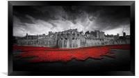 Tower of London Remembers. , Framed Print